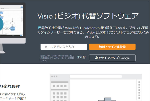 クラウドベースでVisioと同じように様々な図面を作成できる